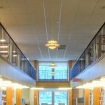 Wilmette public library renovation interiors Illinois